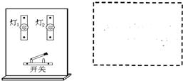 上课时,物理老师向大家出示了一块木板,大家可以看到上面安装了两个灯座和灯泡 一个开关,如图所示.老师合上开关后,可以看到,两个小灯泡都发光 断开开关,两个小灯泡都不发光