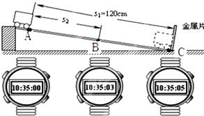 小明在测小车的平均速度 的实验中.设计了如图