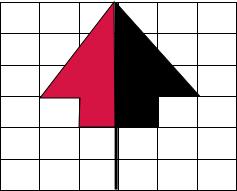 在方格纸上按照给出的对称轴画对称图形