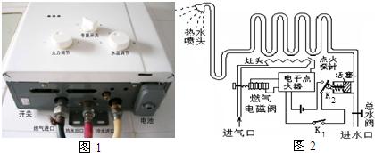 停止使用热水器时,只需关闭总水阀,此时,水压阀复原,k 2断开,电磁阀图片