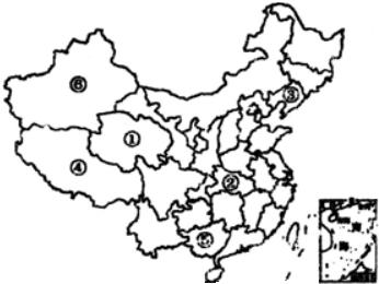 读中国政区图.完诚:(1)填出下列字母所代表呼省