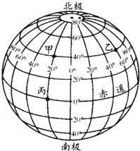 读经纬图.回答问题:①B点的经度是 纬度是 .位于