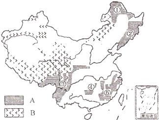 读我国土地利用类型分布图和构成图.回答下列