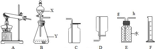 选用仪器f测量排出水的体积,仪器f的名称是  .