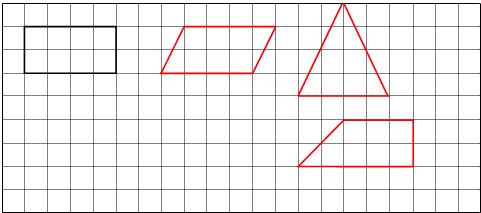 此题主要考查长方形、平行四边形、三角形和梯形的面积的计算方法以及它们的画法.   高是4;根据梯形的面积公式可得,上底是3,下底是5,高是2的梯形的面积也是8,由此即可画图.   解答:   解:观察图形可知长方形的面积是:2*4=8;由此画出底是4、高是
