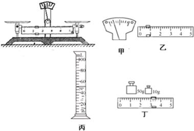 初中物理 题目详情  (1)测量前,他将天平放在水平桌面上,此时指针和游
