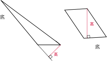 解:作三角形和平行四边形的高如下图片