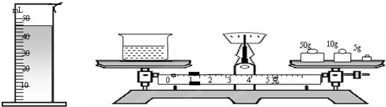 """在""""用天平和量筒测量矿泉水密度""""实验中,小明的实验步骤如下"""