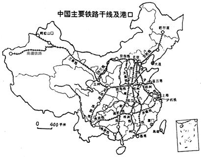 """(2)陇海线--兰新线是""""亚欧第二铁路大陆桥""""的一部分,该东西向干线东"""