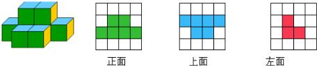 按要求画出如图所示立体图形的平面图.图片