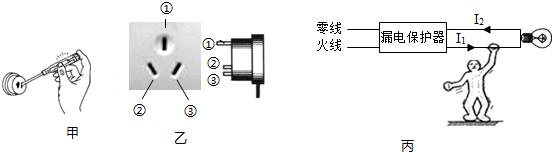 初中物理 题目详情  a,(图甲)将试电笔笔尖与火线(220v)接触,手抵金属