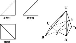 一个简单多面体的直观图和三视图如图所示.它的正视图和侧视图都是腰图片