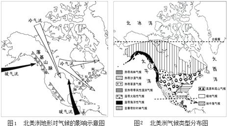 气候类型分布图手绘