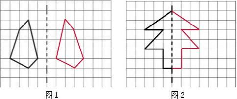 对称点到对称轴的距离相等,对称点的连线垂直于对称轴,在对称轴的右边