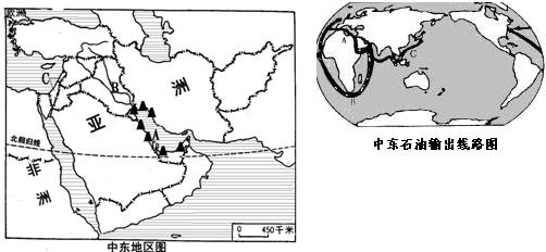 a  湾沿岸是中东石油的主要分布区.图片
