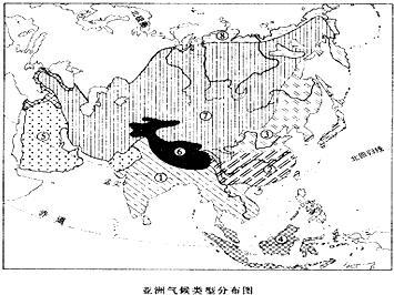亚洲候类型分布?_读\