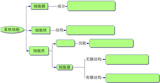 请完成下列有关细胞结构的概念图.