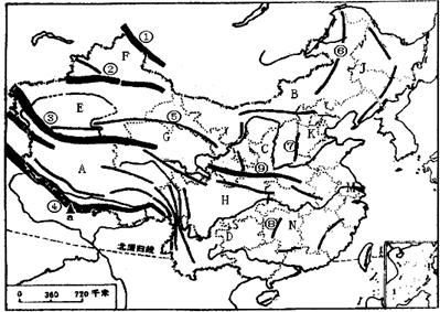 读中国地图,请你准确填写以下问题,考考你的读图和记忆能力.