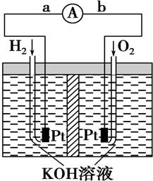 氢氧燃料电池是符合绿色化学理念的新型发电装置.如图为电池示意图.请回答