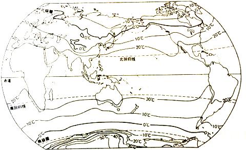 (5)世界气温从低纬度向极地逐渐  ,同纬度的海洋和陆地气温  .