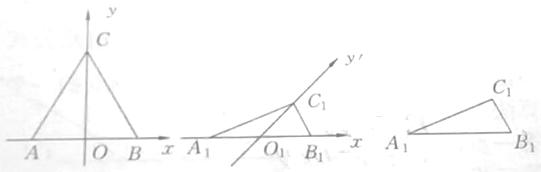自然语言表述用斜二测画法画出水平放置的正三角形的直观图的算法过程