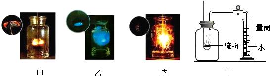 (3)做实验甲和乙时,木炭,硫在氧气中燃烧比在空气中燃烧剧烈;做丙实验