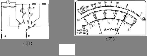 (1) 如图甲是一个多用电表的内部电路图,在进行电阻测量时,应将s拨到