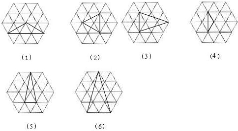边长为1的小正三角形组成的虚线网格中.画出 1 一个所有顶点均在格