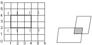 如图.长方形与平行四边形部分重叠.已知梯形甲 的面积是12平方厘米.梯形乙的面积是 平方厘米.