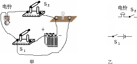 请按照图甲所示电路实物图,完成图乙中对应的电路图.