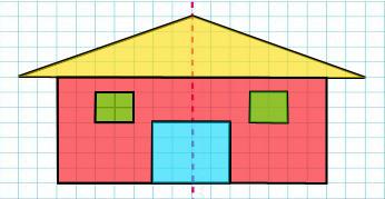 小小设计师.(在下面的方格图上设计一个轴对称的美丽图案)