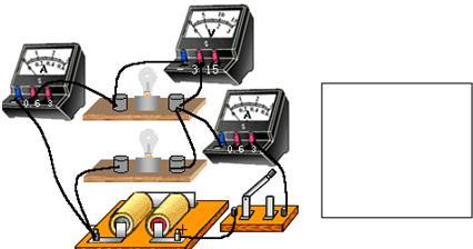 点评:会分辨串联电路合并联电路,会认准电压表和电流表所测量的电压