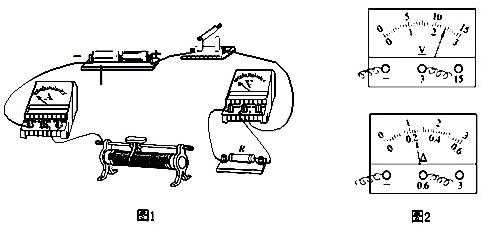 初中物理 题目详情  (1)实验的实物图如图1所示,请你用笔画线代替导线