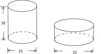 高为40厘米的圆柱锻压成底面直径为15厘米的圆柱.求它的高,若设高图片