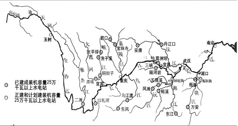 读长江水系图,完成下列要求