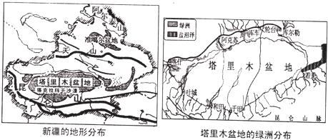 2.塔里木盆地南缘的地形区是 .