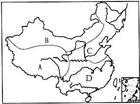 读我国四大地理区域图,回答下列各题.小题1:读图判断图片