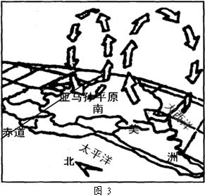 亚马孙平原集中分布着地球上大约一半的热带雨林.读 亚马孙平原大气环流示意图 图3.图中箭头表示空气的垂直运动 .完成题. 1.从图中可看出.亚马孙地区的降水类型主要是