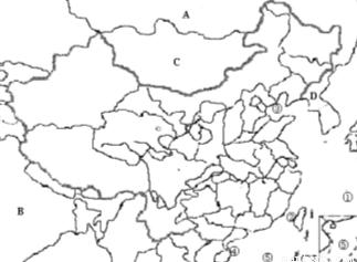 成下列各题(1)填出图中字母代表的地理名称:D