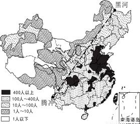 )据图说出我国人口分布的特点.(2分)-2014年 8月28日,第二届夏