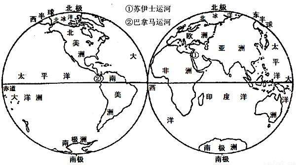 读七大洲.四大洋分布图 .完成下列问题.(1)七大