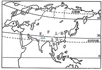 亚洲地形囹�b���_(2)欧洲地形以_______为主,山脉分布在南北两侧.