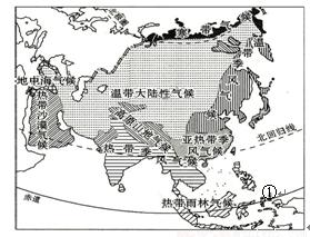 亚洲地形囹�b���_亚洲是世界第一大洲 b.亚洲地形复杂多样 c.亚洲跨纬度最广 d.