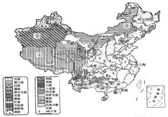读中国民族分布图,回答下列问题.