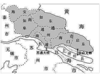(2)海安,如皋,如东,海门,启东和通州等县(市),区中,既濒江又临海有