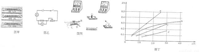 用笔画线代替导线,在图丙中连接测量小灯泡电阻的实物电路.