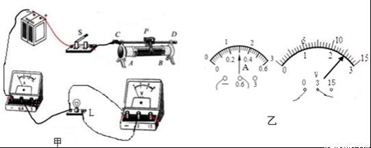 """在如图所示的电路中,电源电压为15v保持不变,灯泡l只标有""""6v""""字样"""