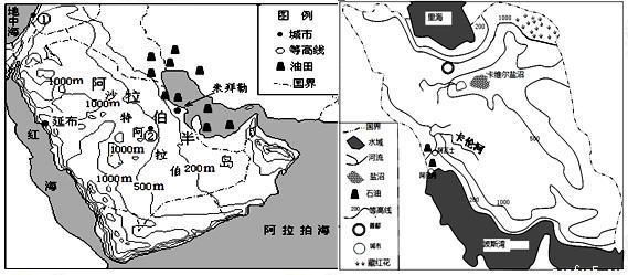 (10分)下图为我国东部季风区黄河沿线某城市(阴影部分)及周边地形示意