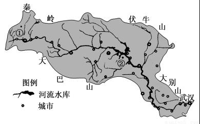 读汉江流域示意图.回答下列问题.1.若在汉江流