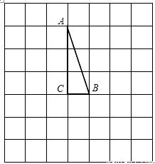 (1)请你画出将rt△abc绕点c顺时针旋转90.后所得到的rt△a′b′c′,其中a、b的对应点分别是a′、b′(不必写画法);   (2)设(1)中ab的延长线与a′b′相交于d点,方格纸中每一个小正方形的边长为1,试求bd的长(精确到0.1).